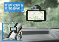 car stand - Retail Packaging Universal Car Phone Holder Windshield Dashboard Mount Stand Smart Mobile Phone GPS MP4 Rotating Degree DHL Free ship