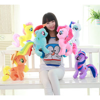 baby horse shipping - 30CM Kids TV Rainbow MLP little horse plush toys Cartoon Animals Baby Toy for Children Gifts Wedding Gifts toys JIA577