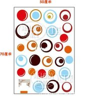 home furniture decoration - Wall stickers home decoration Three generations of wall stickers colored circles furniture cabinets decorative stickers sticky painting XY80