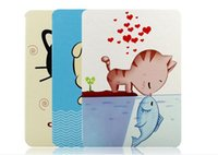 Wholesale 2015 New Arrival CUTE CARTOON PRINT Smart PU Leather Stand case cover for ipad air for ipad mini