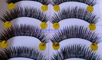 Wholesale 10Pairs Brand new Lady Makeup Natural Long Thick Black False Eyelashes Charming Eye Lashes For Party and Daily Use
