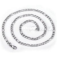 stainless steel jewelry mens necklace - MM Figaro Style Stainless Steel Necklace Mens Chain Top Quality jewelry KN73