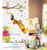 baby pooh characters - 2015 Hot Baby room Winnie The Pooh Wall Sticker Vinyl Decal Kids Wall Art free ship