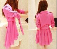 Wholesale women s new fashion Long Sleeve chiffon patchwork long Cardigans sun protection clothing