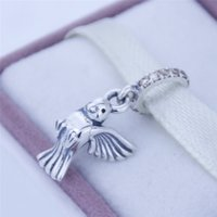 dove charm - Silver Dove of Peace Pendant Charm solid silver charms loose beads silver beads european charms CE360