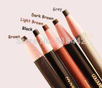 beginner pencil - Paper Packaged Eyebrow Pencil black grey brown light dark brown natural easy to wear suitable for beginners