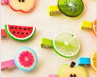 baby simulation - 10 off The simulation fruit hair clips Promotion Baby Girl Fashion Lovely Hair Clip Hair Accessories Hairpin headwear LP