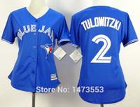 baseball shirt women - 2015 New Womens Toronto Blue Jays Troy Tulowitzki Jersey Blue Alternate Stitched Womens Baseball Jersey Shirt Tulowitzki