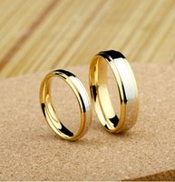 Wholesale high quality Size Titanium Woman Man s wedding Rings lover s ring Couple Rings engagement ring