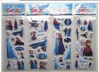 Wholesale Frozen Design Kids Cute toy Stickers Cartoon Craft Scrapbook Stickers Awards Children s christmas gifts