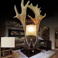 antler wall lights - European Antler Wall Lamp American Glass Resin Wall Lamp Living Room Bedroom Bar Cafe Wall Light