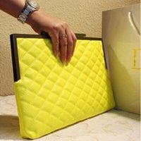 Cheap Wholesale-2015 Fashion Women Leather Envelope Bag Clutch Plaid Evening Bag Party Clutches Chain Handbags Crossbody Bag bolsas mujer XA388B