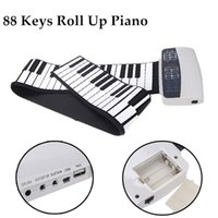 Wholesale Portable Keys Flexible Roll Up Piano Soft Silicone Material Electronic Piano Keyboard Good Gift