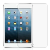 Wholesale 0 mm H Tempered Toughened Glass Film Screen HD Protector For iPad ipad mini Ipad air Without Retail Package