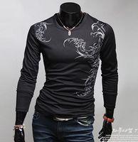 designer clothes for men - New Fashion Brand Men T shirts Designer Long Sleeve Spring Printed T shirts For Men Casual Pullovers Men Clothing