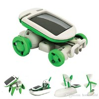 Wholesale 1 DIY in Solar Educational Kit Toy Boat Fan Car Robot Power Moving Dog Novelty Toys
