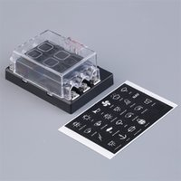 Wholesale New Way Circuit Car Fuse Box Holder Circuit Car ATC ATO Blade Fuse Box Block Holder V Terminals YKS