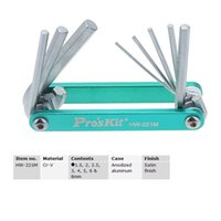 Wholesale 8 in Pro sKit HW M Aluminum Case Folding Hex Key Folding Wrench Set