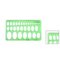 Wholesale IMC New Clear Green quot x quot Educational Stationery Template Oval Ruler Guide order lt no track