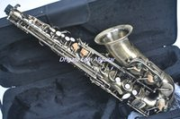 Wholesale High quality bronze Alto Saxophone Musical Instruments body carving With case HOT SALE