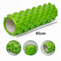 Wholesale 45cm fitness yoga block Foam Roller massage Floating Point Muscles relax yoga roller extra Firm for YOGA PILATES crossfit gym