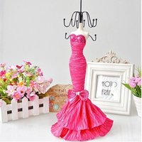 Wholesale Mannequin Dress Doll Display Rack Necklace Earring Ring holder have color cm Tall Model Jewelry Stand