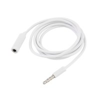 Wholesale Newest M Male to Female M F Plug Stereo White mm Audio Headphone Extension Cable Cord For ipad ipod Mp4 Mp3