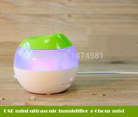 mini usb ultrasonic humidifier - Unique gift mini usb ultrasonic mist maker air humidifier with color led light for office home
