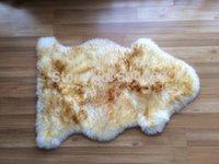 Wholesale 100 Sheepskin Rug White brown color