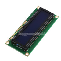 Wholesale New x2 HD44780 Character LCD Display Module LCM Blue Backlight H1E1