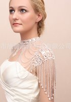 Wholesale LYP new European style fashion jewelry handmade chain shoulder bride jewelry alloy tassel diamond necklace