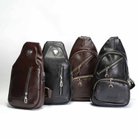 best day pack - 1 Piece Simple Men Chest Bag Fashion Accessories Latest Casual High Quality Leather Shoulder Bag Messenger Bag Best Travel Supplies