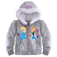Wholesale Frozen Anna Children Girls Hoodies long sleeves hooded jacket upscale sweater Sweatshirts Kids Clothing