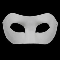 Wholesale Hot Hand Painted Halloween White Face Mask Party Cosplay Masks Mask Props Masquerade Mask Zorro Crown Butterfly Blank Paper Mask