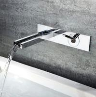 bathroom wall construction - 2016 Solid Brass Construction Chrome Finish Waterfall Bathroom Faucet Cascade Basin Mixer Set