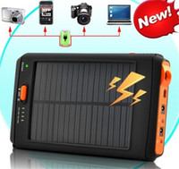 Wholesale Hot mAh Portable Solar Battery Panel Charger Power Bank Charger With Flashlight For Laptop Camera Cell Phone PC MP3 Tablet Mobile Smart