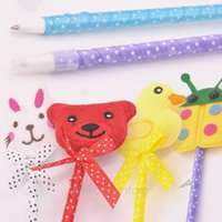 Wholesale Cute Lovely Cartoon Animal Writing Ball Pens for Children Kids Toys School Pen Accessories Dropshipping JJ0148