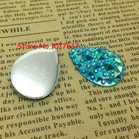 Acrylic, Plastic, Lucite aquamarine cabochons - Drop x25mm Resin Aquamarine AB Rhinestones Gem Stones Jewellry Accessores Loose Strass Cabochons
