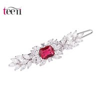 african news - Teemi High Quality Luxury News Style Fashion Cute Cubic Zirconia Platium Plated Jewelry Bridal Flower Hair Clips Hair Accessaries