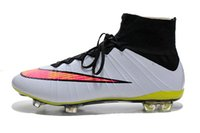 Wholesale Nike Men s Mercurial SuperFly IV FG Soccer Cleats White Black Hyper Pink Volt