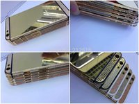 24kt gold - Replacement High Quality Full Colorful Diamonds Mirror kt Gold Back Metal Housing For iPhone inch