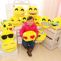 Wholesale 80PCS HHA425 baby pillows Styles Diameter cm Cushion Cute Lovely Emoji Smiley Pillows Cartoon Cushion Pillows Stuffed Plush Toy