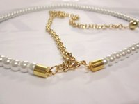 Wholesale Women s Fashion Pearl Belt Elastic long size Dress Decoration Chain YL028