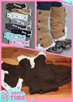 Wholesale 2015 NEW colors winter cute cartoon socks baby girls lace flat warm wool knit handmade leg warmers Christmas birthday gift cm S155