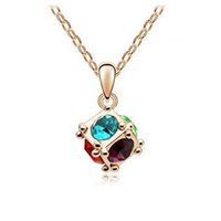 Wholesale Love Magic Necklace Women Fashion Austrian Crystal Necklace KGP Pendant For Women Best Jewelry Gift