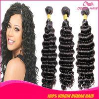 Wholesale TOP Grade A DEEP WAVE virgin human hair weaving brazilian peruvian indian virgin remy hair bundles Mink Human Hair products