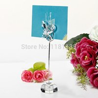 wedding place card holders - Romantic Butterfly Wedding Party Reception Number Menu Table Clip Silver Place Card Holder