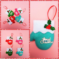 bag decoration suppliers - Cute Small Christmas Gift Gloves Christmas Tree Hanging Decoration Christmas Letters Several Gift Bags Suppliers Cheap