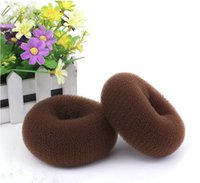 Wholesale Super Large Hair Dounut Doughnut Bun Maker Ring Shaper Former Styler cm Brown