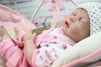 baby alive - 50CM Reborn Baby dolls silicone Body full handmade newborn baby alive doll toys soft girls gift